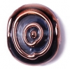 Glass Lamp Bead 17/20mm Round Flat Transparent Montana/Bronze